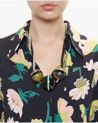 Marni | Black Horn Sphere Necklace | Lyst
