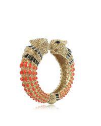 Roberto Cavalli | Multicolor Precious Panther Bangle Bracelet | Lyst
