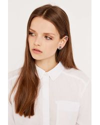 Cheap Monday | Metallic Fly Earring And Cuff In Silver | Lyst