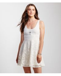 Aéropostale | Natural Lace Fit & Flare Dress | Lyst