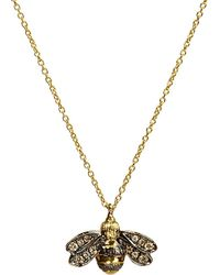 Annoushka | Love Diamonds 18ct Yellow-gold Bee Pendant Necklace | Lyst