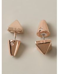 Eddie Borgo | Metallic Pyramid Stud Earring | Lyst