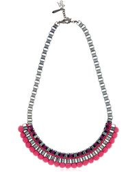 John & Pearl | Purple Pink Bead Necklace | Lyst