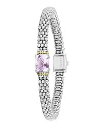 Lagos | Metallic Sterling Silver Rope Bracelet With Diamonds | Lyst
