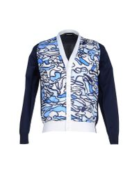 DSquared² - Blue Cardigan for Men - Lyst