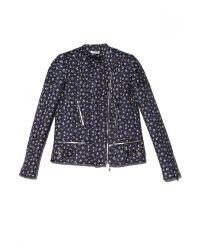 MASSCOB - Blue Floral Biker Jacket - Lyst