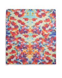 Bindya - Multicolor Bouquet Painterly Printed Silk Cashmere Scarf - Lyst