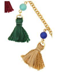 Ben-Amun - Metallic Gold-Tone Bead And Tassel Necklace - Lyst