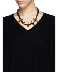 Joomi Lim | Metallic Arrowhead Spike Bead Necklace | Lyst