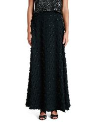 Dress the Population | Black 'bella' Rosette Chiffon Maxi Skirt | Lyst