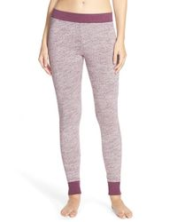 Ugg | Purple 'averell' Slub Knit Leggings | Lyst