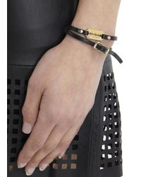 McQ | Black Razor Leather Wrap Bracelet | Lyst