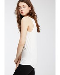 Forever 21   Natural Toujours Graphic Tank   Lyst