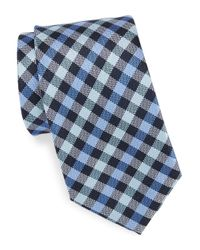 Vince Camuto | Blue Plaid Silk Tie for Men | Lyst