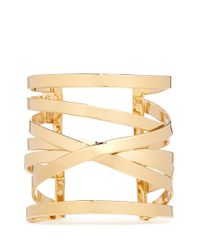 Philippe Audibert | Metallic Crisscross Layer Open Cuff | Lyst