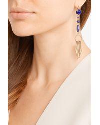 Isabel Marant - Blue Jacques Gold-tone Multi-stone Earrings - Lyst