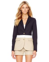 Michael Kors | Multicolor Michael Colorblock Twill Blazer | Lyst