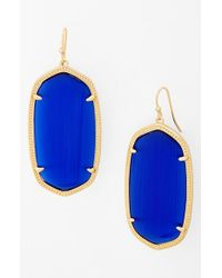 Kendra Scott | Blue 'danielle - Large' Oval Statement Earrings - Cobalt | Lyst