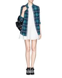 MSGM - White Drop Waist Flare Dress - Lyst