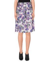 Tara Jarmon - Purple Knee Length Skirt - Lyst