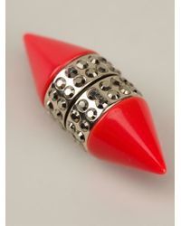Givenchy | Pink Single Cone Earring | Lyst