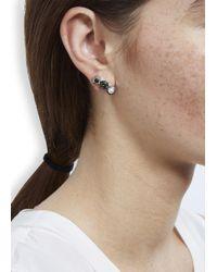MFP MariaFrancescaPepe | Green Rhodium Plated Swarovski Earrings | Lyst