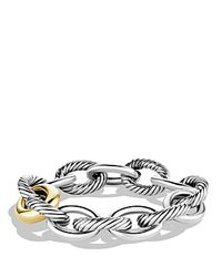 David Yurman | Metallic Oval Chain Extra-large Link Bracelet With Gold | Lyst