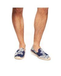 Soludos | Blue Mens Smoking Slipper Prints for Men | Lyst