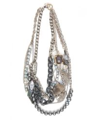 Subversive Jewelry - Gray Greyscale Multistrand Necklace - Lyst