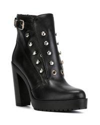 DIESEL - Black 'd-zana' Ankle Boots - Lyst