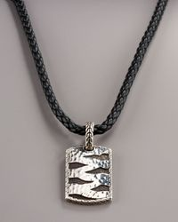John Hardy - Metallic Macan Twisted Leather Bracelet for Men - Lyst