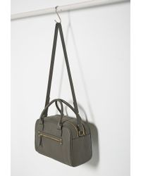 Forever 21 | Gray Faux Leather Satchel | Lyst