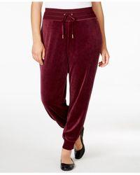 Calvin Klein | Purple Plus Size Velour Jogger Pants | Lyst