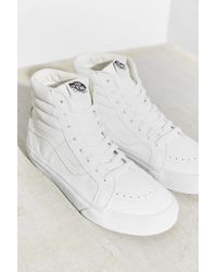 Vans - White Sk8-hi Reissue Leather Sneaker - Lyst