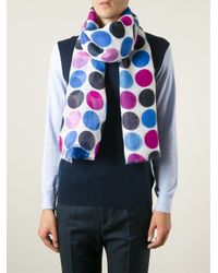 Kiton - Multicolor Dotted Scarf for Men - Lyst