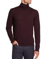 Saks Fifth Avenue | Purple Merino Wool Turtleneck Sweater for Men | Lyst