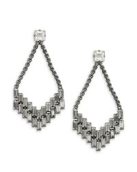 Cara | Metallic Rhinestone Arrow Chandelier Earrings | Lyst