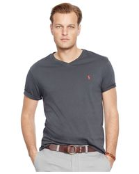 Polo Ralph Lauren | Black Big And Tall Classic-fit Jersey V-neck for Men | Lyst