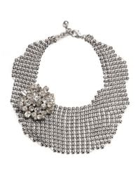 Lulu Frost - Metallic Single Mesh Necklace - Silver - Lyst