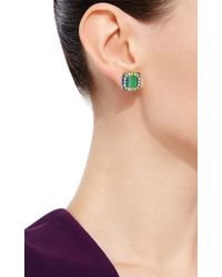 Mark Davis - Multicolor Bakelite Post Earrings With Blue Sapphire - Lyst