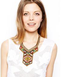 ASOS - Multicolor Spear Bib Necklace - Lyst
