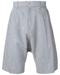 Julien David   Blue Drop Crotch Striped Shorts for Men   Lyst