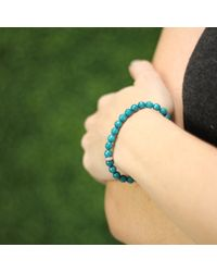 Sydney Evan - Blue Diamond Rondelle Beaded Bracelet - Lyst