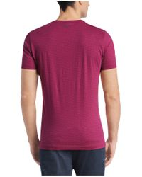 BOSS Green | Purple 'tee' | Cotton Patterned Logo T-shirt for Men | Lyst