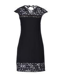 Pianurastudio - Black Short Dress - Lyst