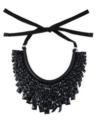 Ermanno Scervino | Black Tiered Beads Necklace | Lyst