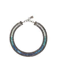BCBGMAXAZRIA | Blue Baguette Stone Necklace | Lyst