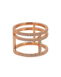 Apm Monaco - Brown Rose Gold-plated Ring - Lyst