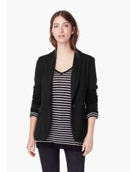 Mango - Black Double-breasted Jacket - Lyst