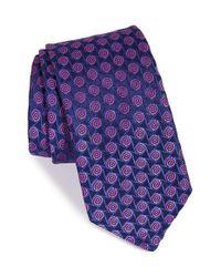 Ted Baker   Blue Geometric Silk Tie for Men   Lyst